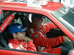 Sébastien Loeb - Loeb and Elena at the 2001 Rally Finland