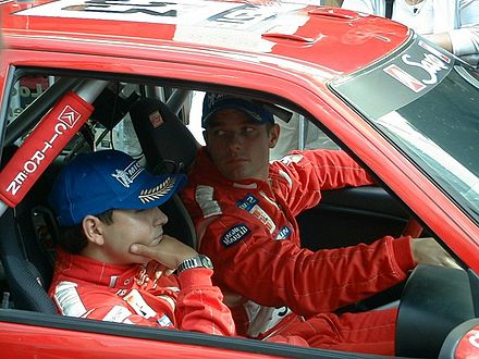 Sebastien Loeb and Daniel Elena at the 2001 Rally Finland. Loeb elena.jpg