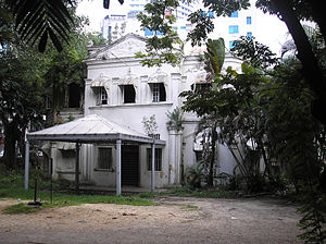 Loke Yew - The Loke Mansion, Loke Yew's final residence in Kuala Lumpur. This is an old photograph taken before the current restoration.