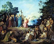 St. Andrew erecting the cross on Kiev heights by Nikolay Lomtev