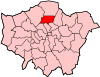 Location of the London Borough of Haringey in Greater London