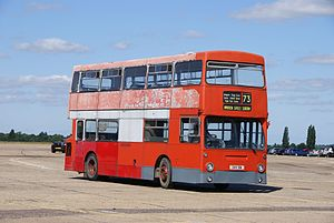 London Transport bus DM1051 (GHV 51N), 2010 North Weald bus rally (2).jpg