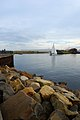 Lonely ship and the Wear River mouth - panoramio.jpg