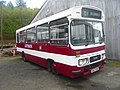 Lothian Region Transport preserved bus 173 Leyland Cub Duple Dominant HSC 173X Madder and White livery, Scottish Vintage Bus Museum, 16 May 2010.jpg