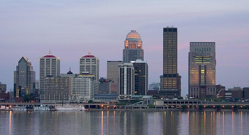 A view of Louisville, Kentucky.