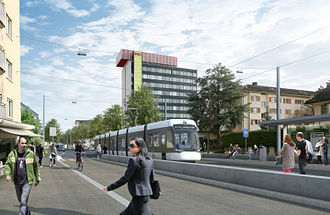 Limmattal light rail line - A visualisation of what the line will look like when complete
