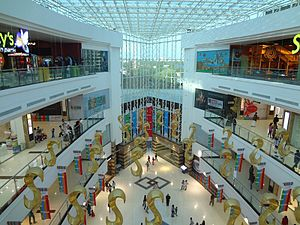 LuLu International Shopping Mall - Central atrium of LuLu Mall with translucent roof