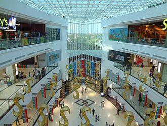Lulu International Shopping Mall - Central atrium of LuLu Mall with translucent roof