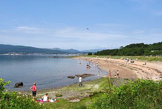 Clyde Muirshiel Regional Park - Lunderston Bay Beach and picnic area.