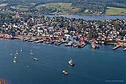 Aerial view of Lunenburg