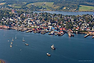 Lunenburg, Nova Scotia - Aerial photo of Lunenburg