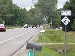U.S. Route 25 in Michigan - M-25, shown here in August 2010, replaced US 25 north of Port Huron.
