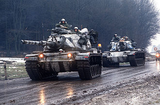 United States Army Europe - M-60A3 near Giessen in West Germany, 1985.