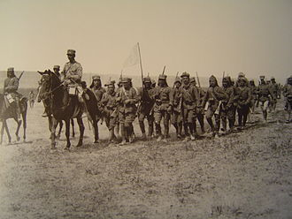 Battle of Sakarya - The Greek 9th infantry division marches through the steppe