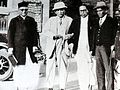 M.R. Jayakar, Tej Bahadur Sapru and Dr. Babasaheb Ambedkar at Yerwada jail, in Poona, on 24 September 1932, the day the Poona Pact was signed.jpg