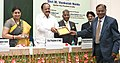M. Venkaiah Naidu giving away the National Awards for Excellence in Journalism, at the Valedictory of Golden Jubilee celebrations of the Press Council of India, on the occasion of the National Press Day, in New Delhi (1).jpg
