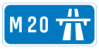 M20 motorway shield}}