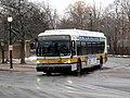 MBTA route 78 bus leaving Arlington Heights busway, March 2017.JPG