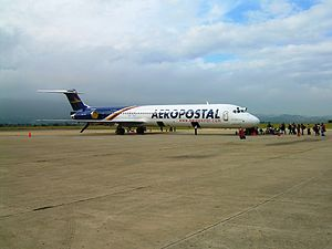 Aeropostal Alas de Venezuela - An Aeropostal MD-82 at Jacinto Lara International Airport
