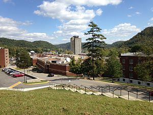 Morehead State University - Campus view from West Mignon Hall
