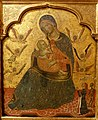 Madonna of Humility with Angels and a Donor, Venice, c. 1360 AD, tempera on wood - Museo Nacional Centro de Arte Reina Sofía - Madrid, Spain - DSC08528.JPG