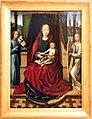 Maestro della leggenda di santa lucia, madonna ciol bambino e due angeli musicanti, 1485 ca.jpg