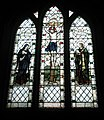 Magnificent stained glass window above the altar at Corhampton Church - geograph.org.uk - 1115618.jpg
