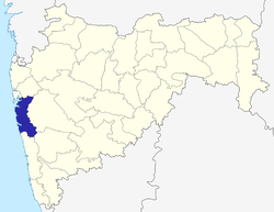 Location of Raigad district in Maharashtra