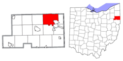 Location of Youngstown in Mahoning County within the state of Ohio Lua error in package.lua at line 80: module 'Module:Transcluder' not found.