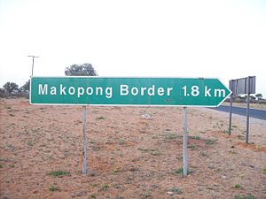 Makopong - Image: Makopong Border Post