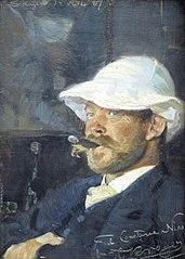 Portræt af maleren Thorvald Niss