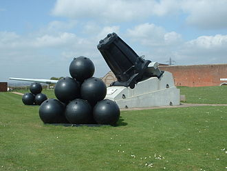 Robert Mallet - Mallet's Mortar with 36-inch shells which would have contained 480 lb (217 kg) of gunpowder.