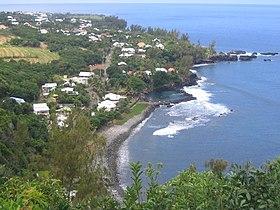 Vue de Manapany et de sa plage.