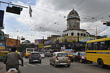 Maniktala crossing with market and clock tower