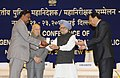 "Manmohan Singh presented President's Police medals for distinguished service, at the ""All India Conference of Directors General Inspectors General of Police-2013"", in New Delhi. The Union Home Minister (1).jpg"
