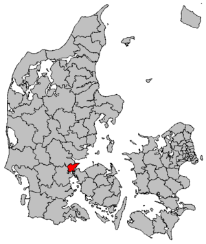 Fredericia Municipality - Image: Map DK Fredericia