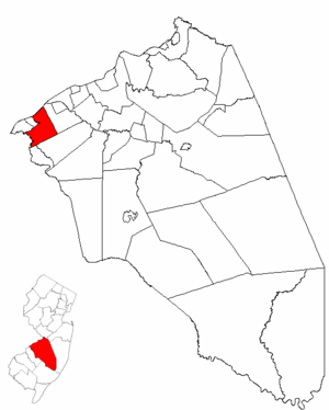 Cinnaminson Township, New Jersey - Image: Map of Burlington County highlighting Cinnaminson Township