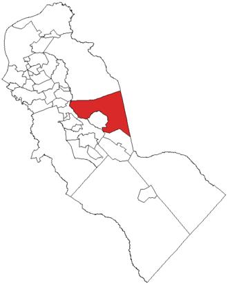 Voorhees Township, New Jersey - Image: Map of Camden County highlighting Voorhees