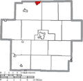 Map of Carroll County Ohio Highlighting Minerva Village.png