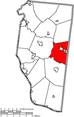 Location of Williamsburg Township in Clermont County