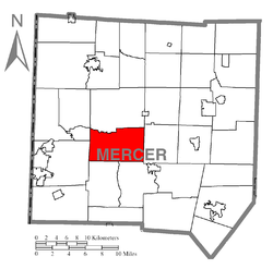 Location of Jefferson Township in Mercer County