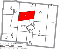 Location of McArthur Township in Logan County