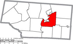 Location of Seal Township in Pike County