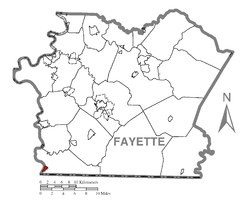 Location of Point Marion in Fayette County