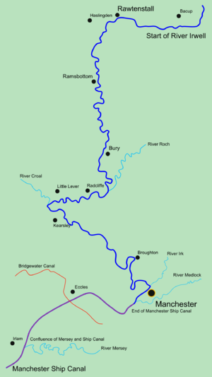 Irwell Valley - Course of the Irwell