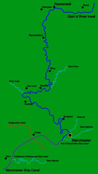 Irwell Valley - Course of the Irwell