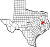 State map highlighting Houston County