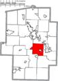Map of Tuscarawas County Ohio Highlighting Warwick Township.png