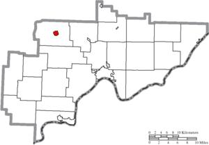 Beverly, Ohio - Image: Map of Washington County Ohio Highlighting Beverly Village