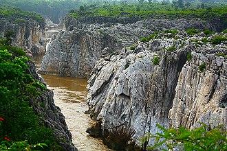 Marble Rocks - Marble Rocks at Bhedaghat near Jabalpur, India